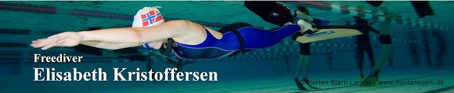 Freediver Elisabeth Kristoffersen