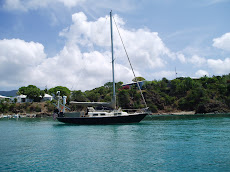 Charis at anchor- Honeymoon Bay, STT