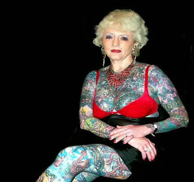 groucho marx lydia the tattooed lady. World's Most Tattooed Woman