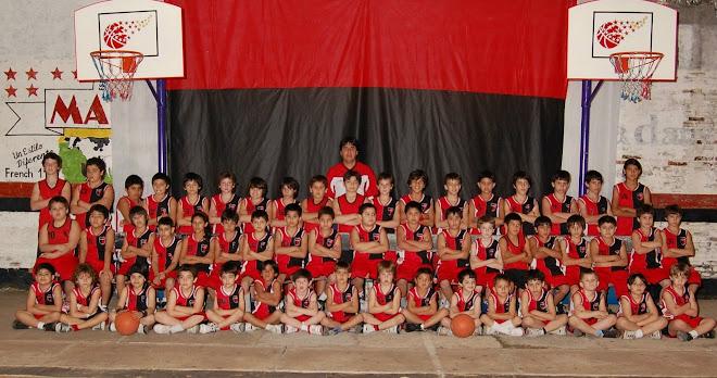 NUESTRA ESCUELA DE MINIBASQUET 2008