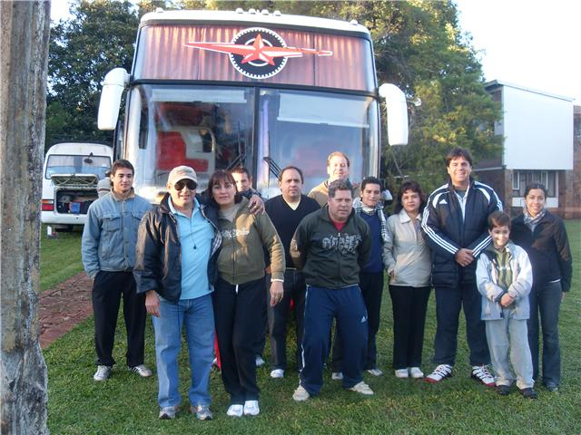 Algunos de los padres que viajaron a Misiones
