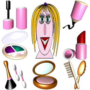 Beauty tools icons
