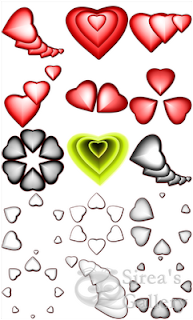 Heart variants icons