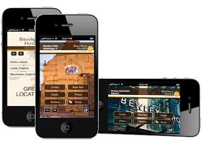 Bewleys Hotels iPhone webapp by Bookassist