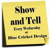 Blue Cricket Design Show and Tell Wednesday Blog Stroll