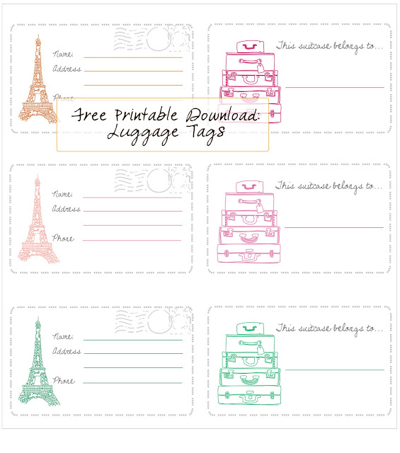 Modest image for luggage tags printable