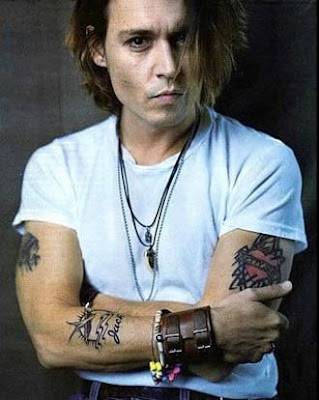 Celebrities Tattoos- Johnny Depp Tattoos. Celebrities Tattoos Design