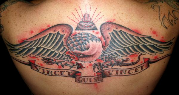 Eagle Back Piece Tattoo Art