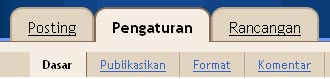 menu pengaturan blog di blogspot