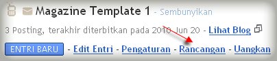 Rancangan template blog
