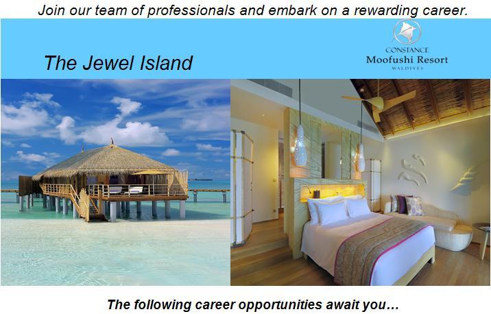 Resort Jobs At Constance Moofushi