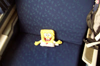 SpongeBob on The train