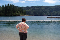 Mary at Lake Merwin - her favorite place in the world