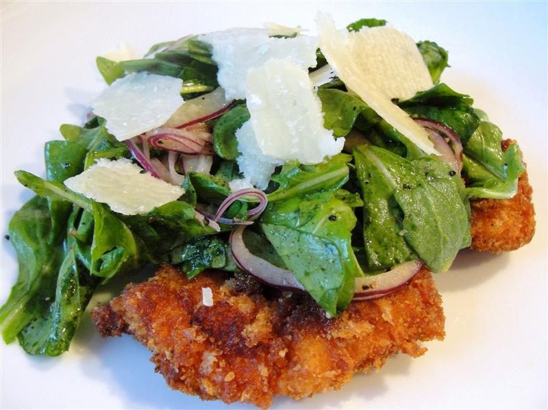 There's always thyme to cook...: Chicken Milanese with Arugula Salad