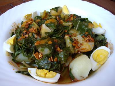 Mis recetas de cocina acelgas y patatas con refrito de ajos for Como cocinar judias