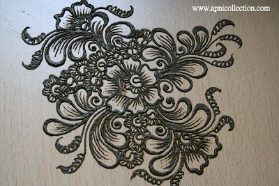 how to draw a henna elephant step by step