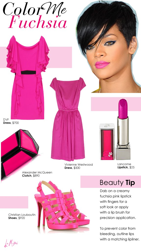Fashion And Beauty Tips Hottest Beauty Trend Fuschia