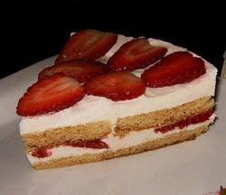 Pastel de fresas y nata receta