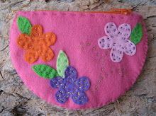 Flower Zip Purse