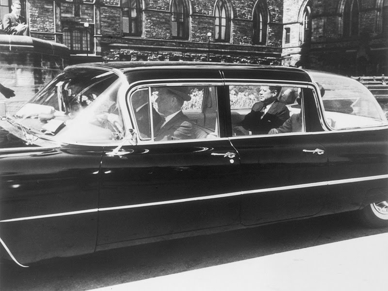 JFK in a different kind of bubbletop limo