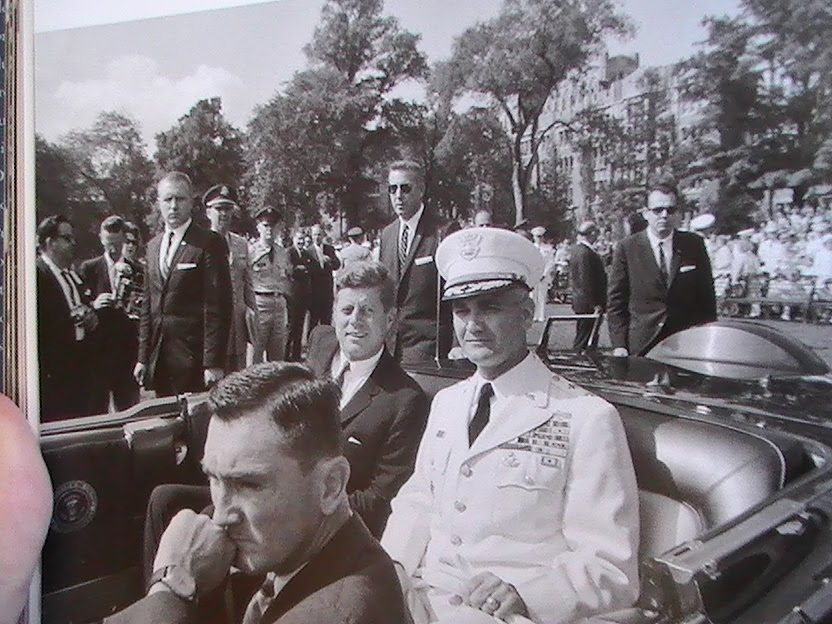 Agents Yeager, Godfrey, & Payne with JFK, O'Donnell, & Westmoreland