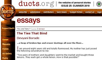 devyani borade - verbolatry - the ties that bind - ducts