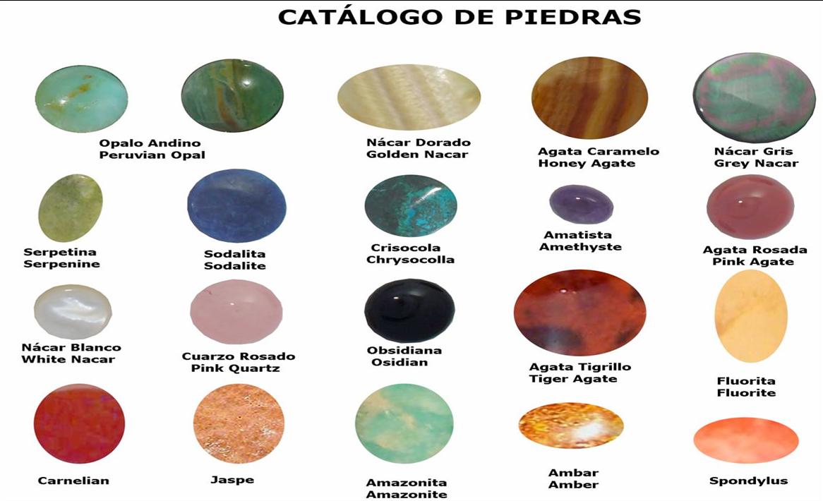 jose ipanaque muestras de la variedad de piedras