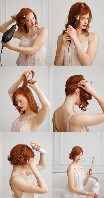 Praznična frizura - stranska figa
