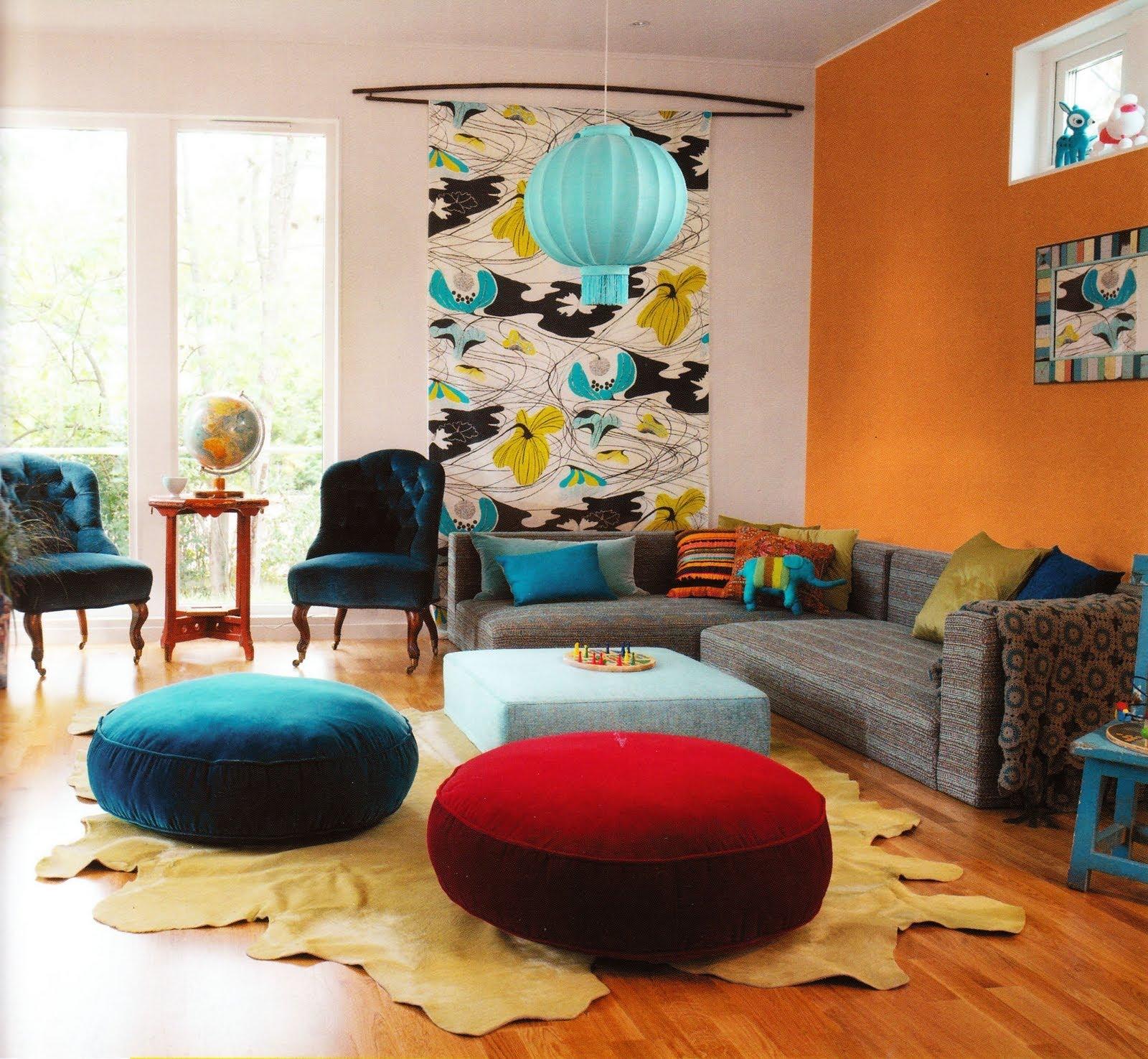 Pruzak Com Sala De Estar Azul Turquesa E Amarelo Id Ias  -> Decoracao De Sala Pequena Vermelha E Amarela