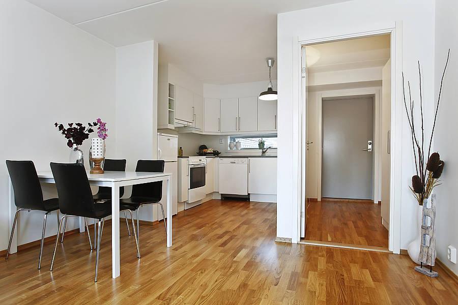 """decorar sala kitnet:cozinha é integrada à sala, mas continua """"reservada"""""""