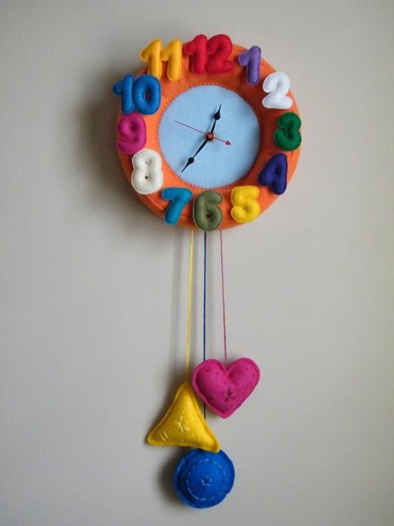 Часы из фетра своими руками