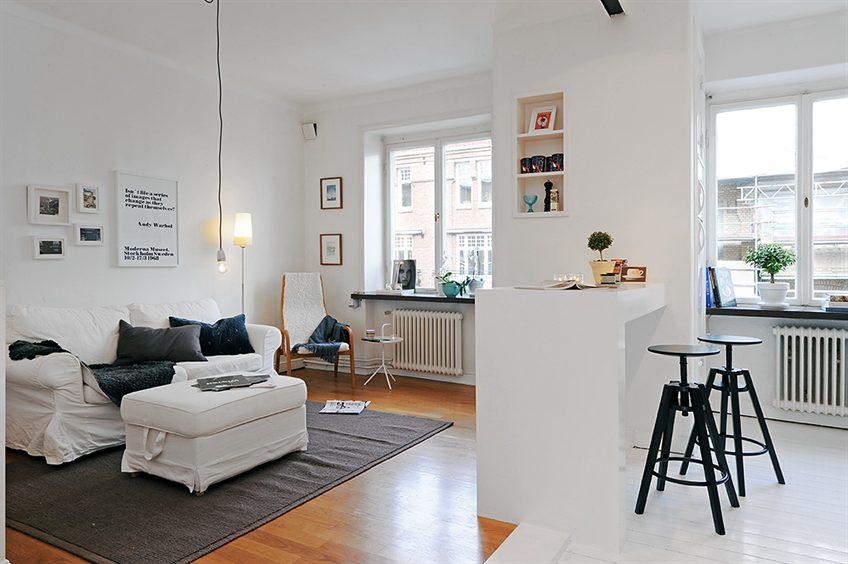 Blog achados de decora o kitnet ou quitinete - Fotos para decorar salon ...