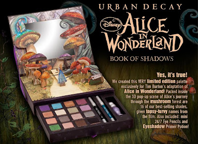 Urban Decay & Alice in Wonderland Book of Shadows