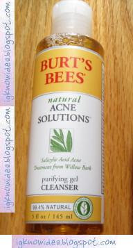 Burt's Bees Natural Acne Purifying Gel Cleanser