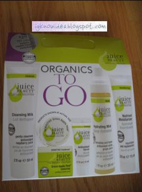 juice beauty organics to go kit