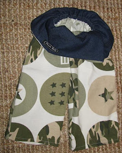 fisherbaby pants, 'Camo', size 6-12mths, 1-2yrs