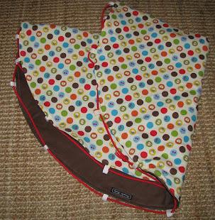 playmat, spots 'n' brown cord