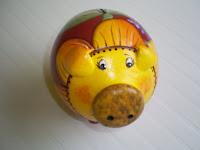 Cofre porquinho girassol