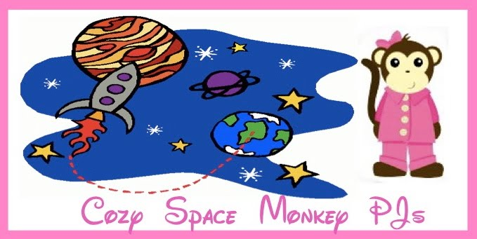 cozy space monkey pjs