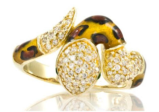 CZ snake ring