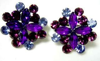 CZ clip on earrings