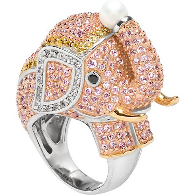 Pink Elephant Cocktail Ring