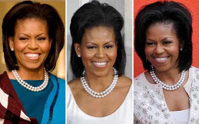Michelle obama's pearl necklaces