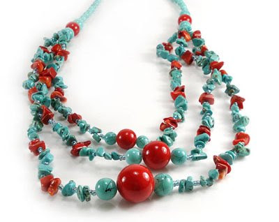 Coral and Turquoise Jewelry 3