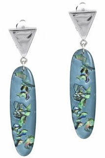 Leesa's Abalone Clip-On Earrings