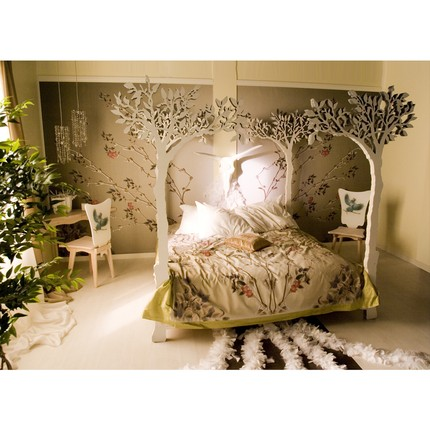Pretty lost forest bedroom for Enchanted forest bedroom ideas