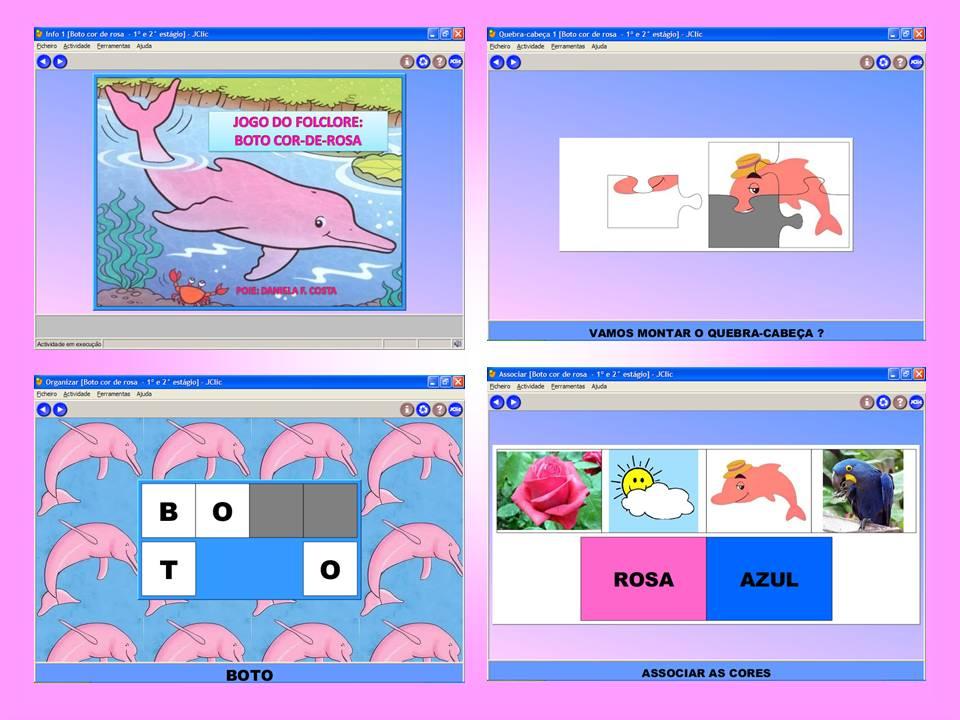 Fabuloso Informática Educativa na Educação Infantil: JOGO DO BOTO COR-DE-ROSA CA28