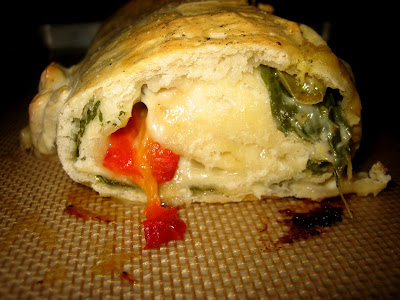 Pizza Stromboli with Spinach, Mushrooms, and Cheese | Two Peas & Their ...
