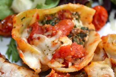 Stuffed Shells with Ricotta, Spinach, and Portobello Mushrooms | Two ...