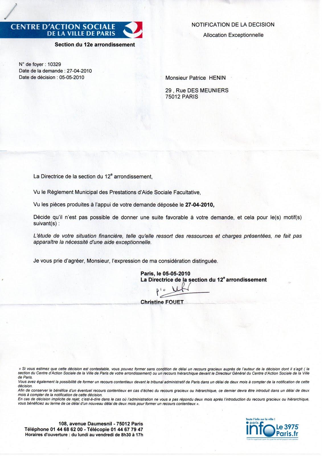 Envoyer Courrier  Ef Bf Bd La Caf Paris